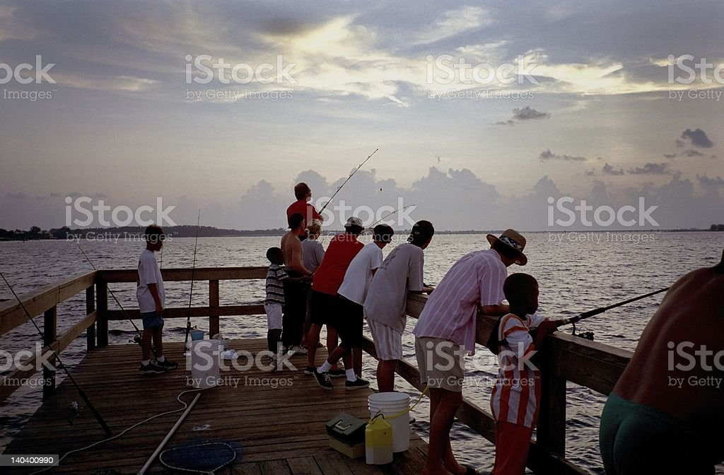 Sanibel Island Fishing Pier royalty-free stock photo