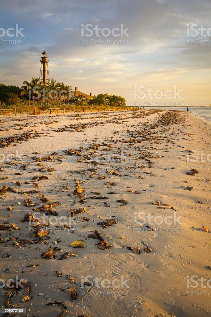 Sanibel Island Lighthouse at Ybel Point stock photo