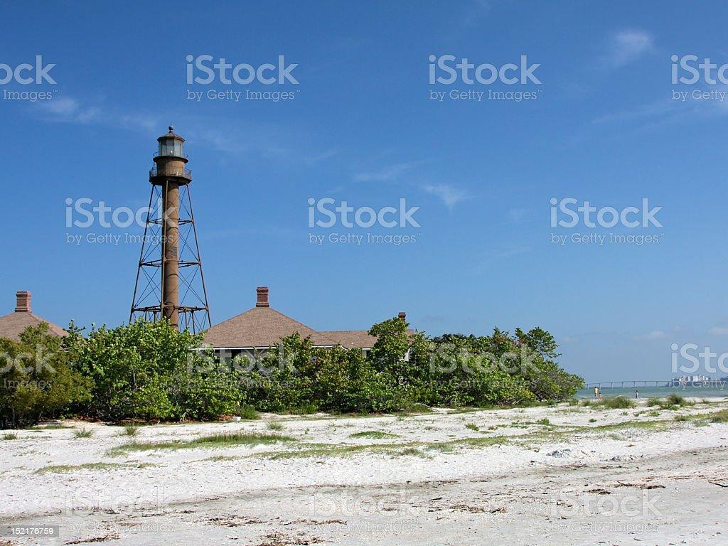Sanibel Island Lighthouse stock photo