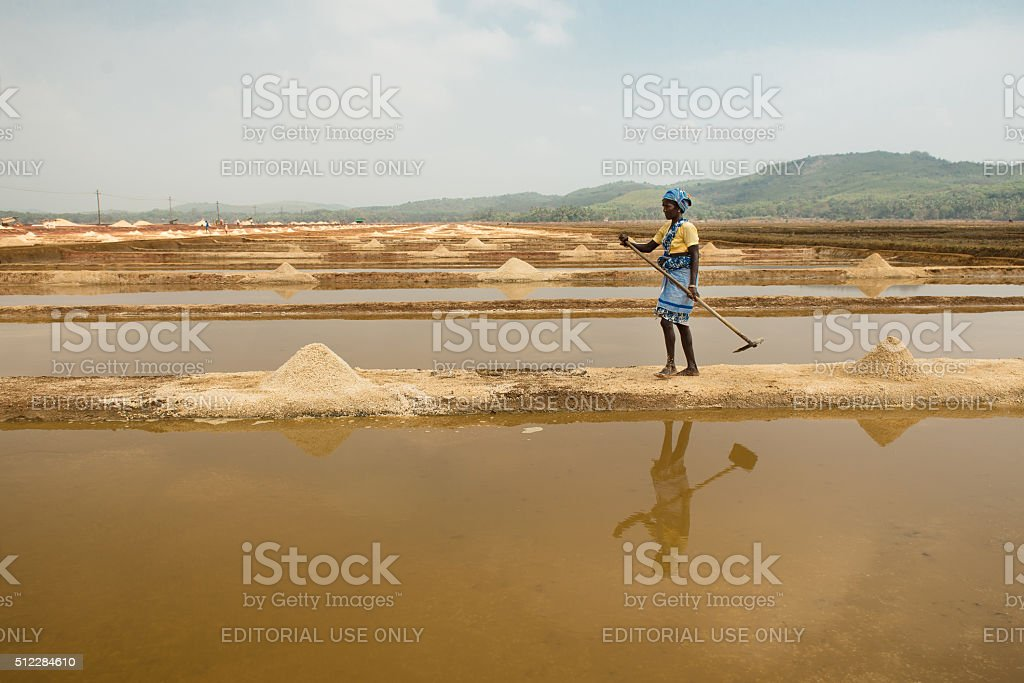 Sanikatta is oldest natural salt manufacturing in Gokarna, Karna stock photo