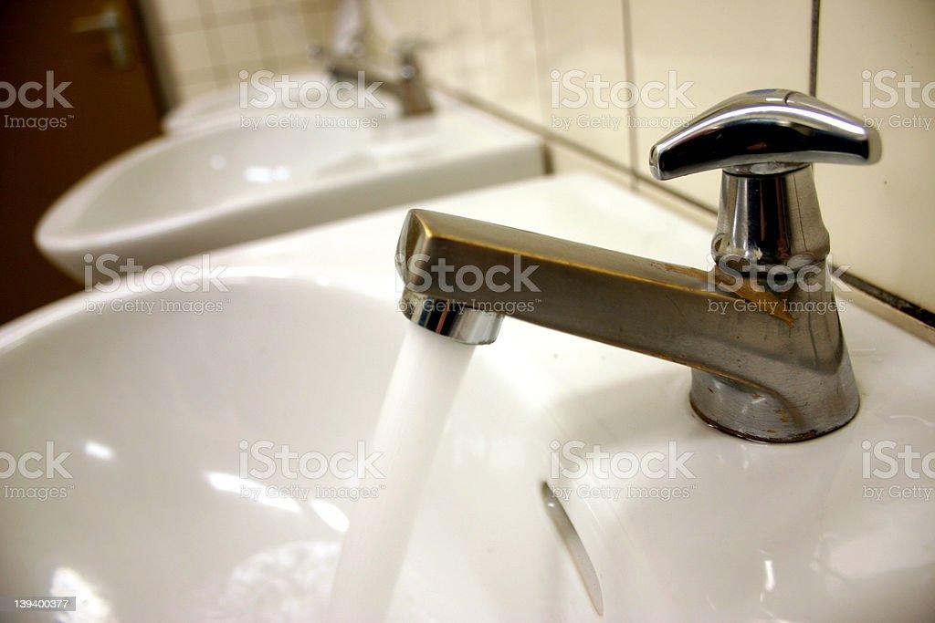 Sanitary 05 - water tap royalty-free stock photo