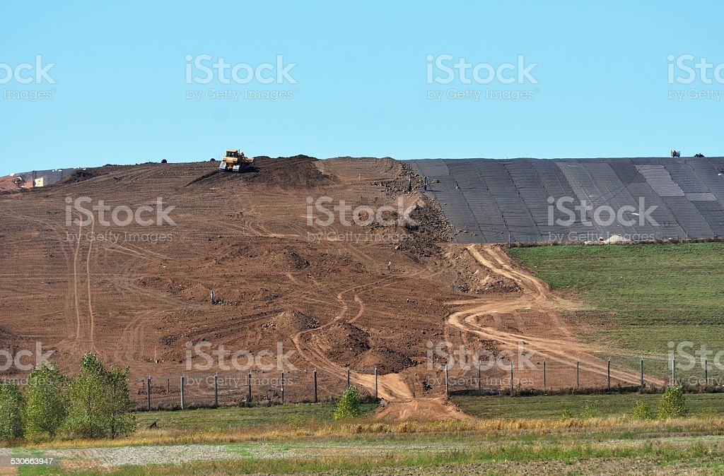 Sanitary Landfill stock photo