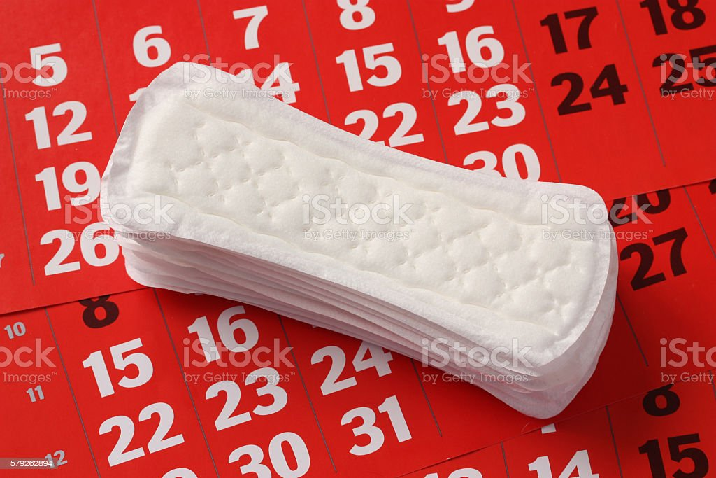 Sanitary product. stock photo