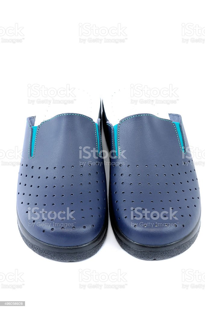 sanitary slippers stock photo