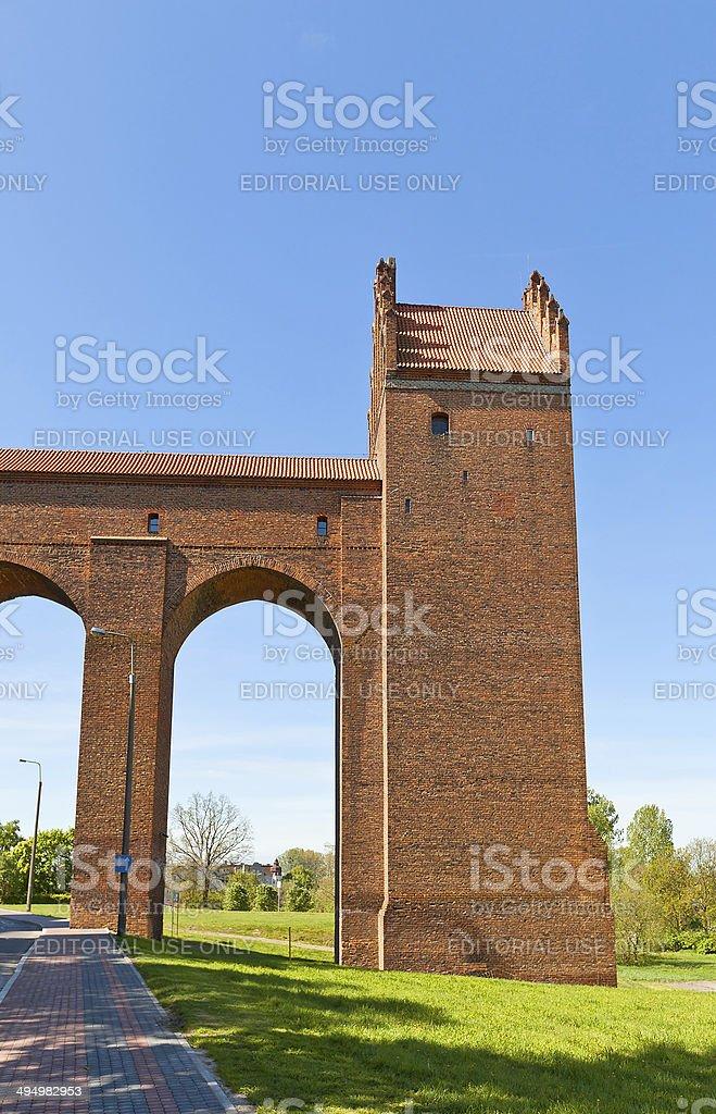 Sanitary tower of Marienwerder castle (1350). Kwidzyn, Poland stock photo