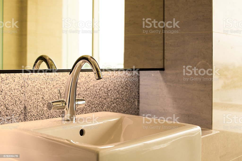sanitary ware in solf and blur background. stock photo