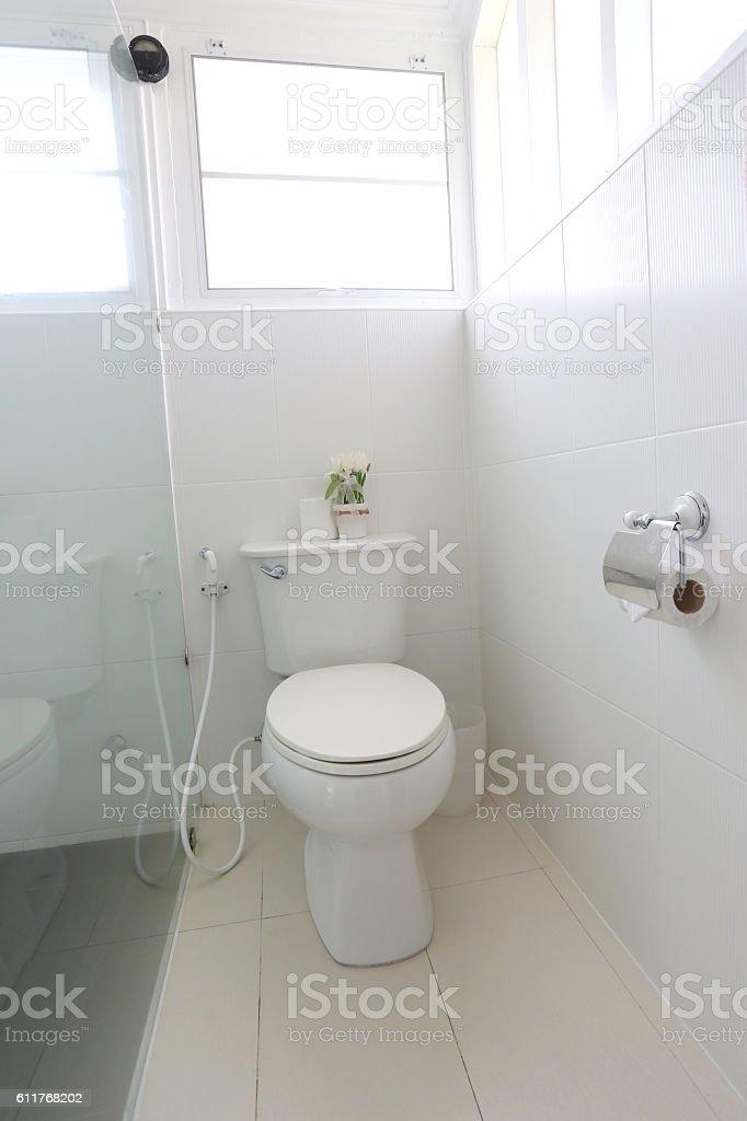 Sanitary ware object of bathroom interior. stock photo