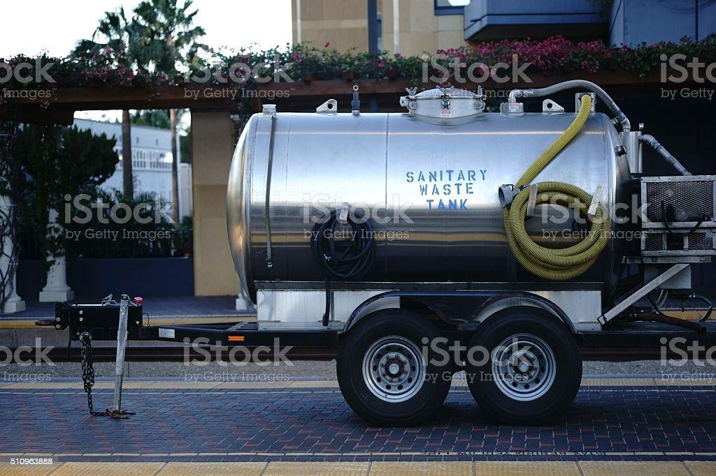 Sanitary waste tank stock photo