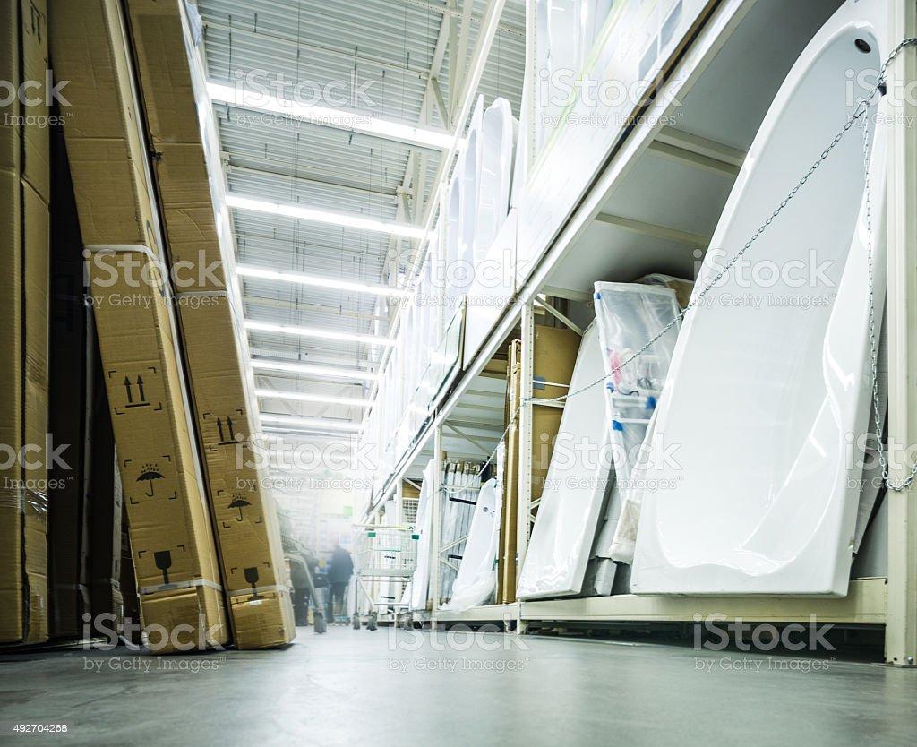 sanitary-ware in store stock photo