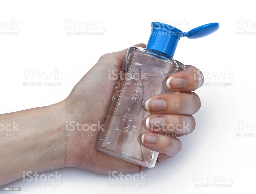 sanitizer gel stock photo