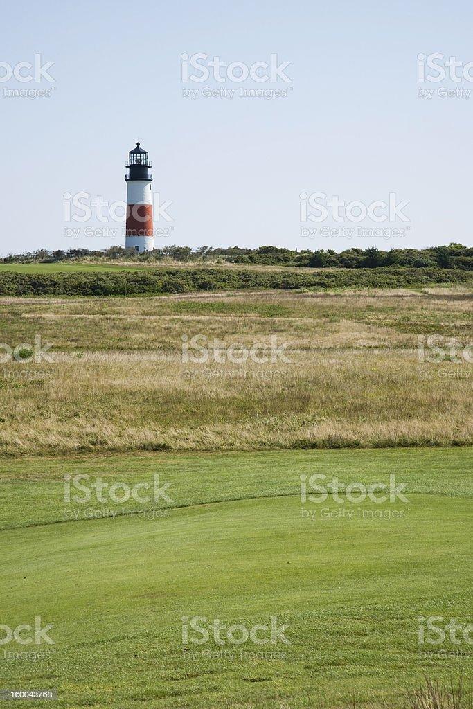 Sankaty Head Lighthouse Golf royalty-free stock photo