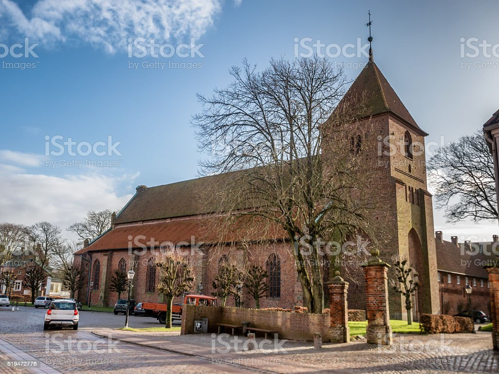Sankt Catharinae church in Ribe, Denmark stock photo