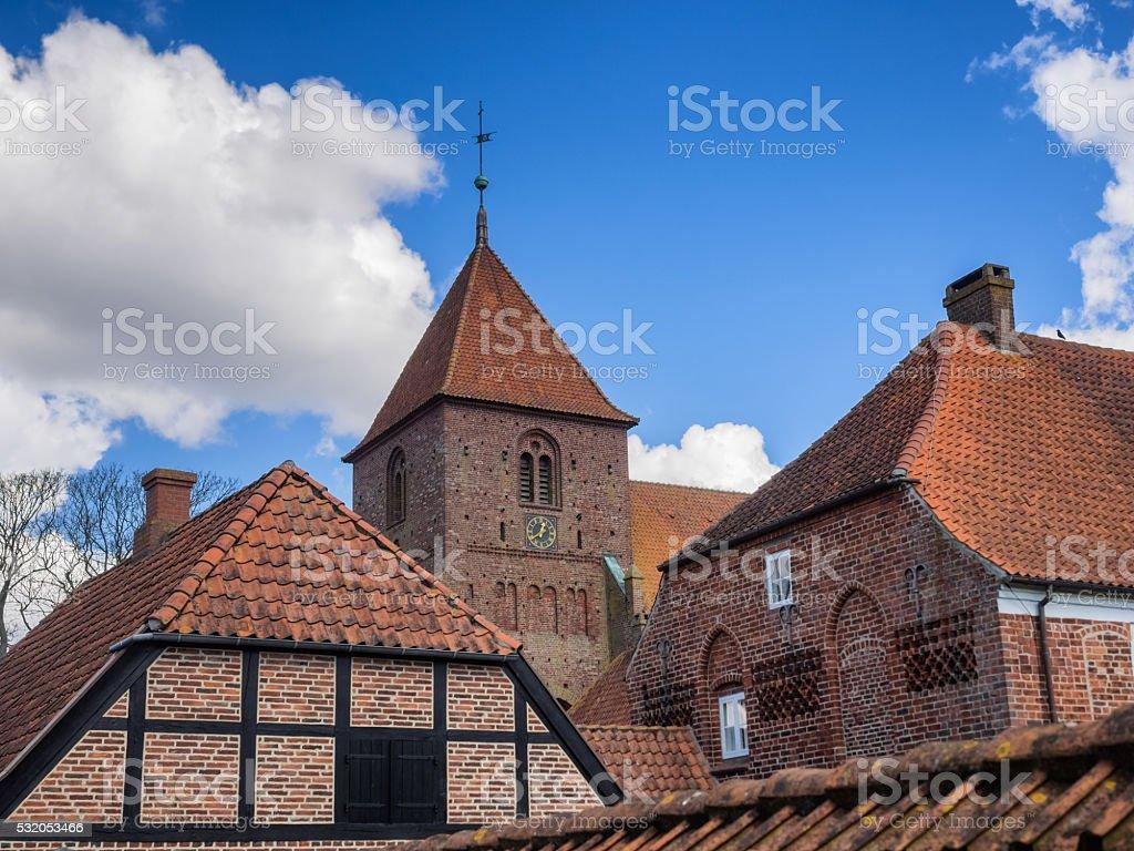 Sankt Catharinae church in Ribe, Denmark stock photo