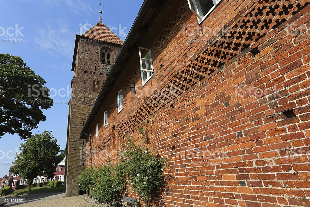 Sankt Katharine Kirke Church and monastery stock photo