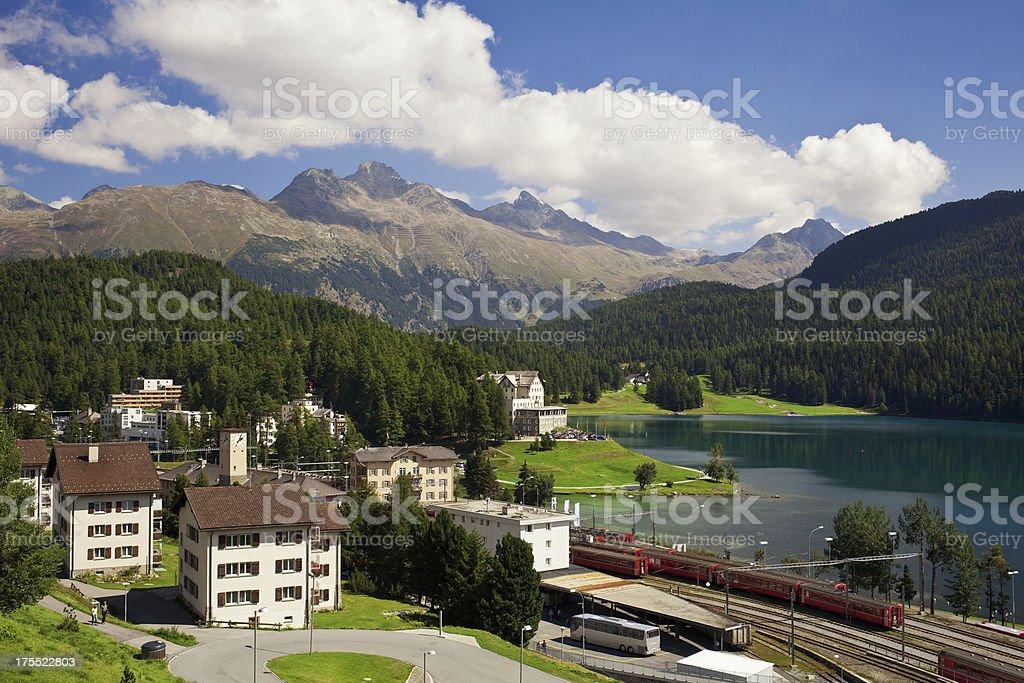 Sankt Moritz stock photo