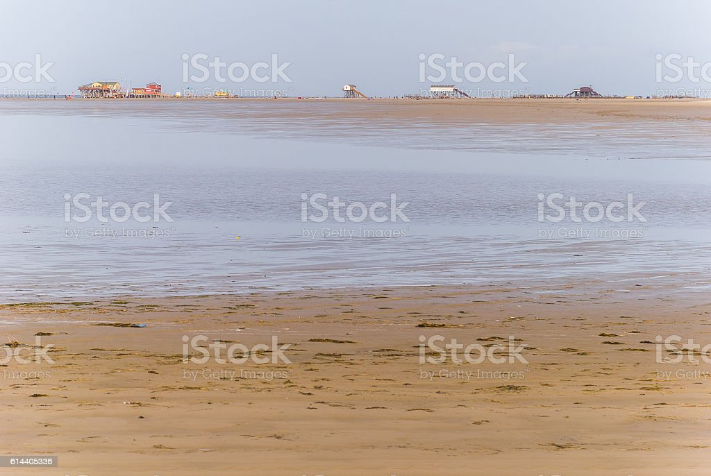 Sankt Peter Ording, North Sea (germany) stock photo
