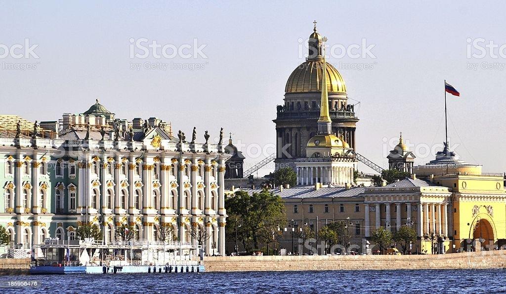 Białe Noce Zwiedzanie Sankt Petersburga zbiór zdjęć royalty-free