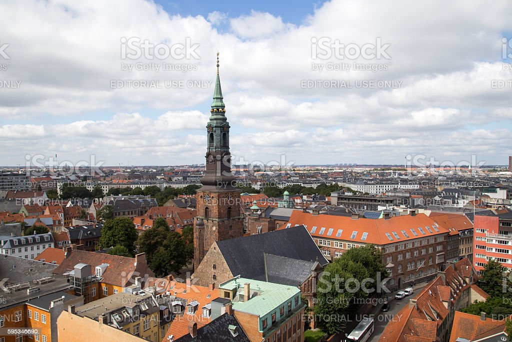 Sankt Petri Church in Copenhagen stock photo