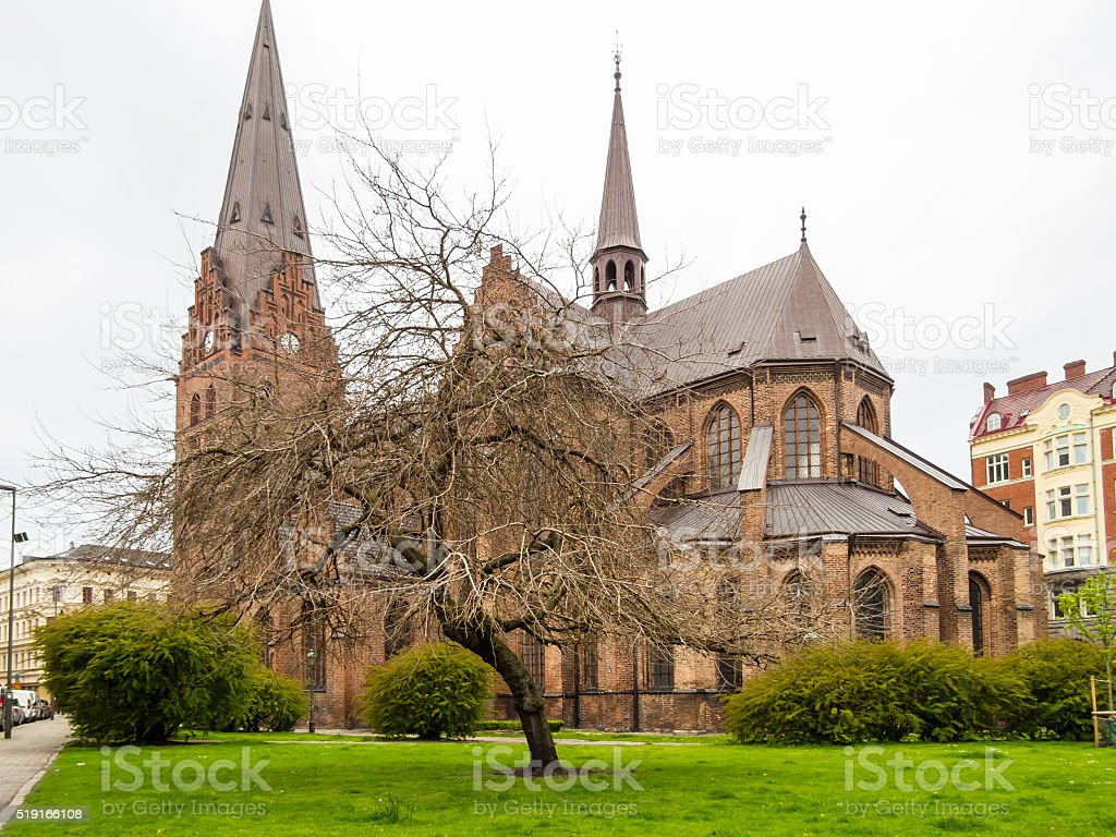 Sankt Petri Church, Malmo, Sweden stock photo