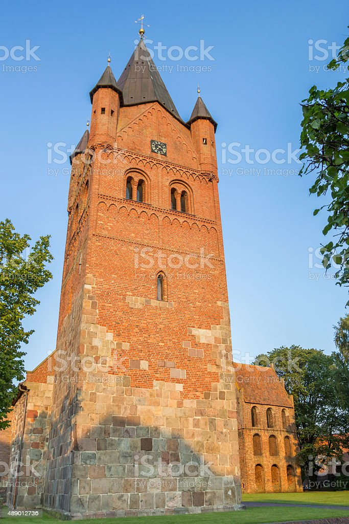 Sankt Petri Church of Westerstede in Lower Saxony stock photo