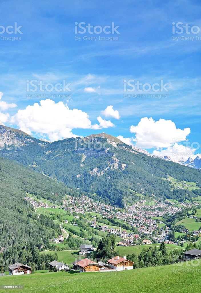 Sankt Ulrich or Ortisei,Gardena Valley,South Tirol,Italy stock photo