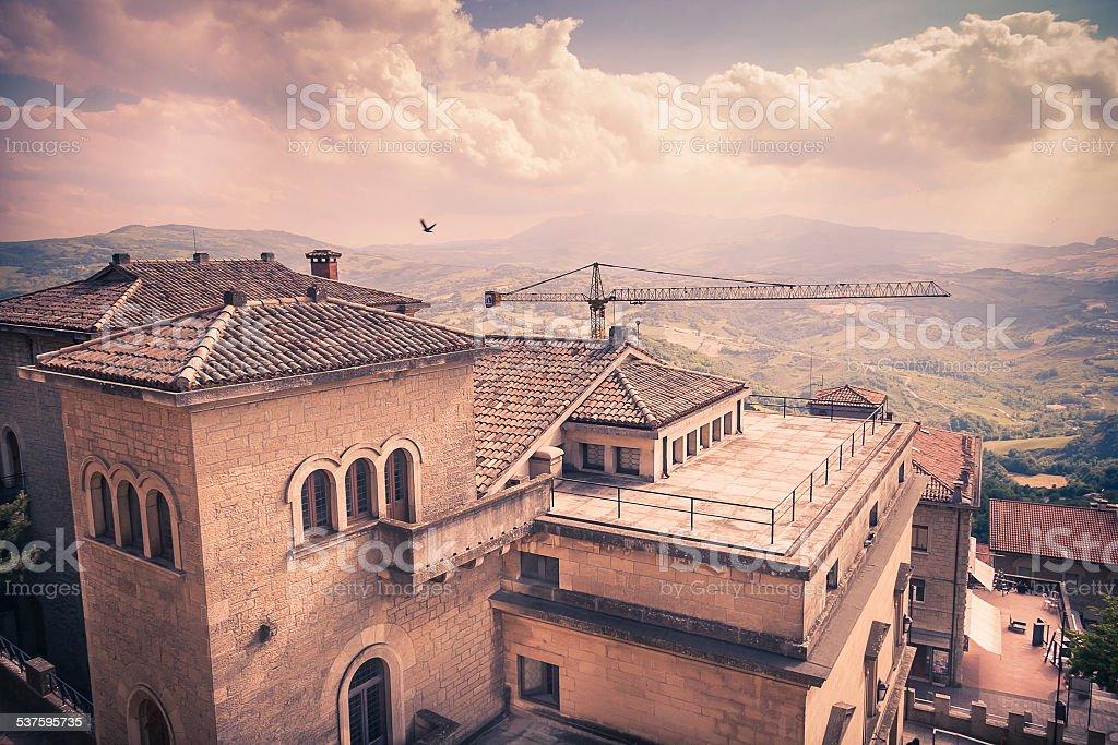 San-Marino Cityscape stock photo