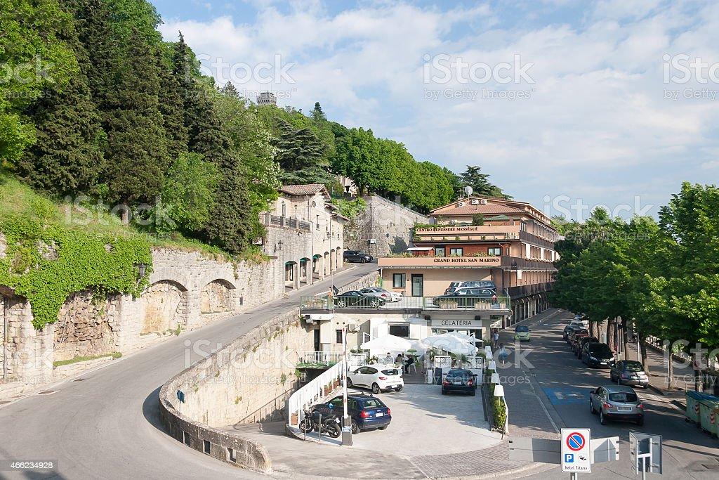 San-Marino Old Town Center Cityscape stock photo