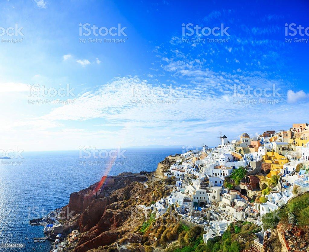 Sanorini skyline, Greece stock photo
