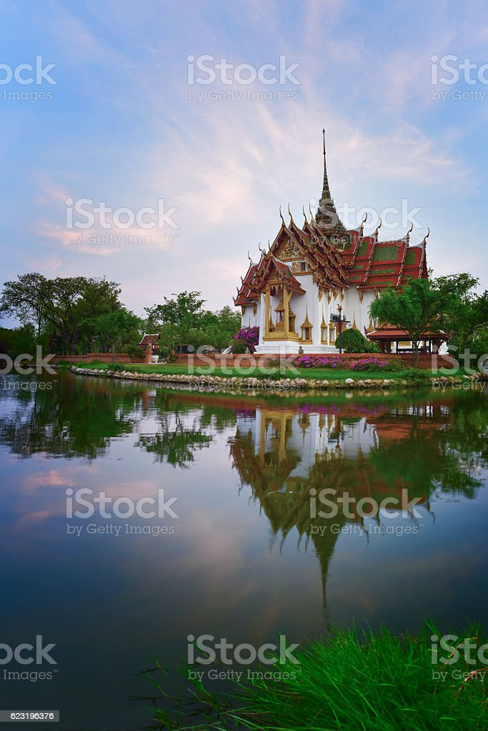 Sanphet Prasat Palace, Ancient City, Bangkok, Thailand stock photo