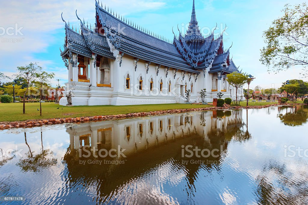 Sanphet Prasat Palace in Thailand stock photo