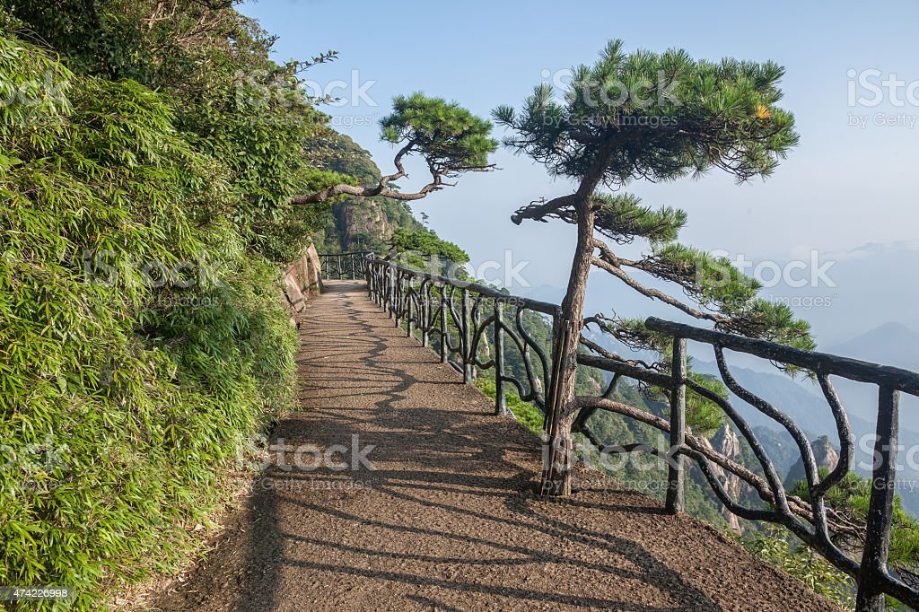 Sanqingshan Mountains stock photo