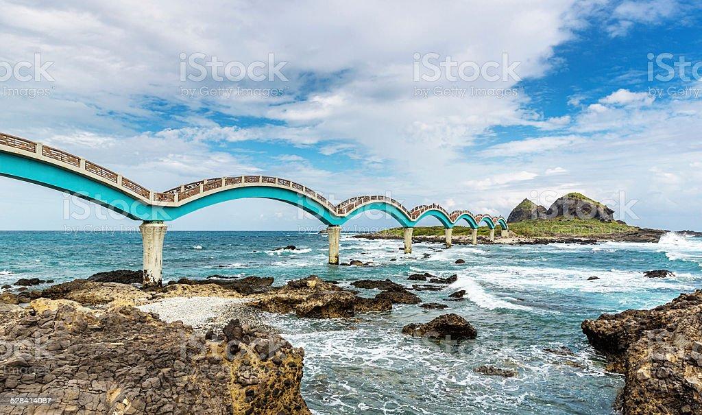 Sansiantai Dragon Bridge Taitung Taiwan stock photo