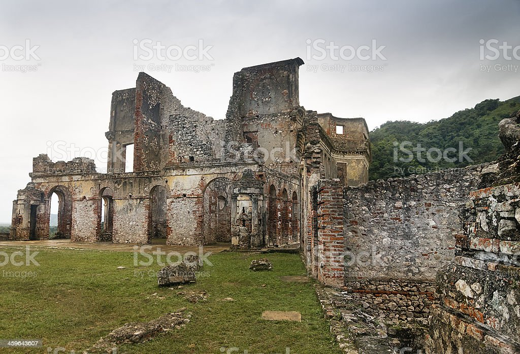 Sans-Souci Ruins, Haiti stock photo