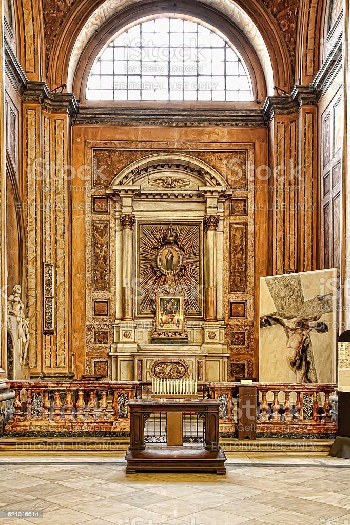 Sant Andrea della Valle basilica stock photo