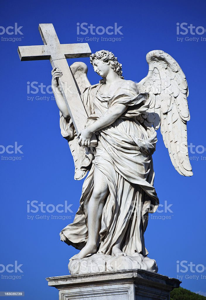 Sant Angelo Angel in Rome stock photo