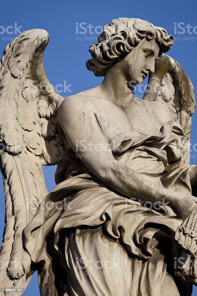 Ponte Sant Angelo Angel Statue royalty-free stock photo