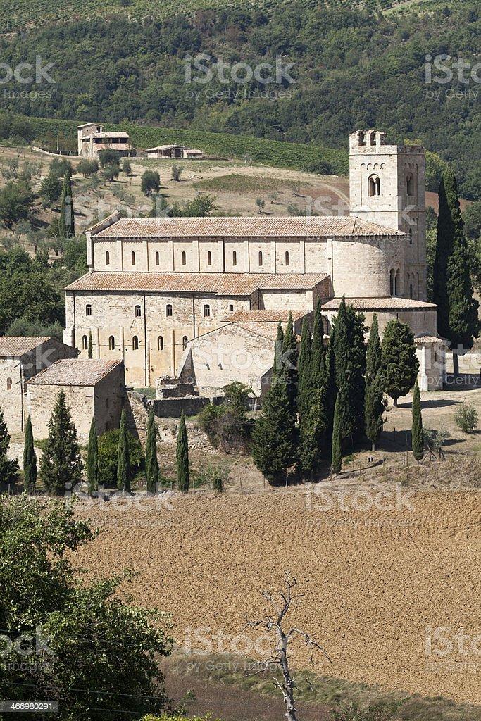Sant Antimo Abbey royalty-free stock photo