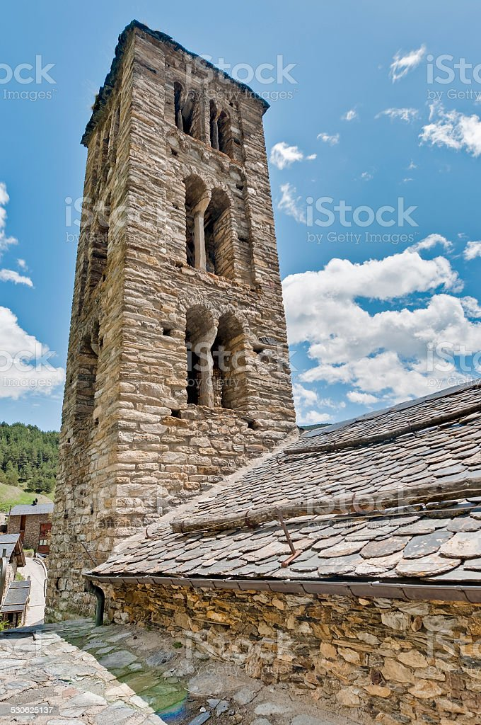 Sant Climent church at Pal, Andorra stock photo
