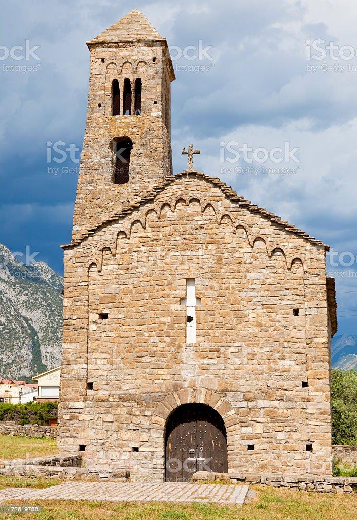 Sant Climent church - Coll de Narg? stock photo