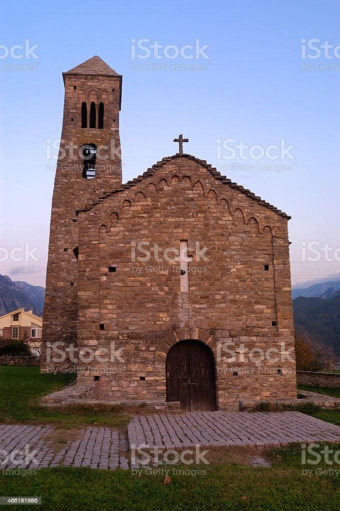 Sant Climent, Church, Coll de Nargo, Alt Urgell, Lleida stock photo