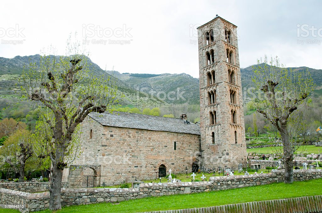 Sant Climent Church - Taull - Spain stock photo
