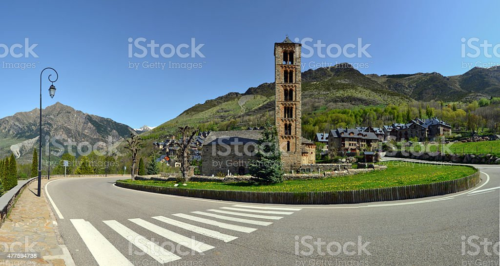 Sant Climent of Tahull church in Val de Boi stock photo