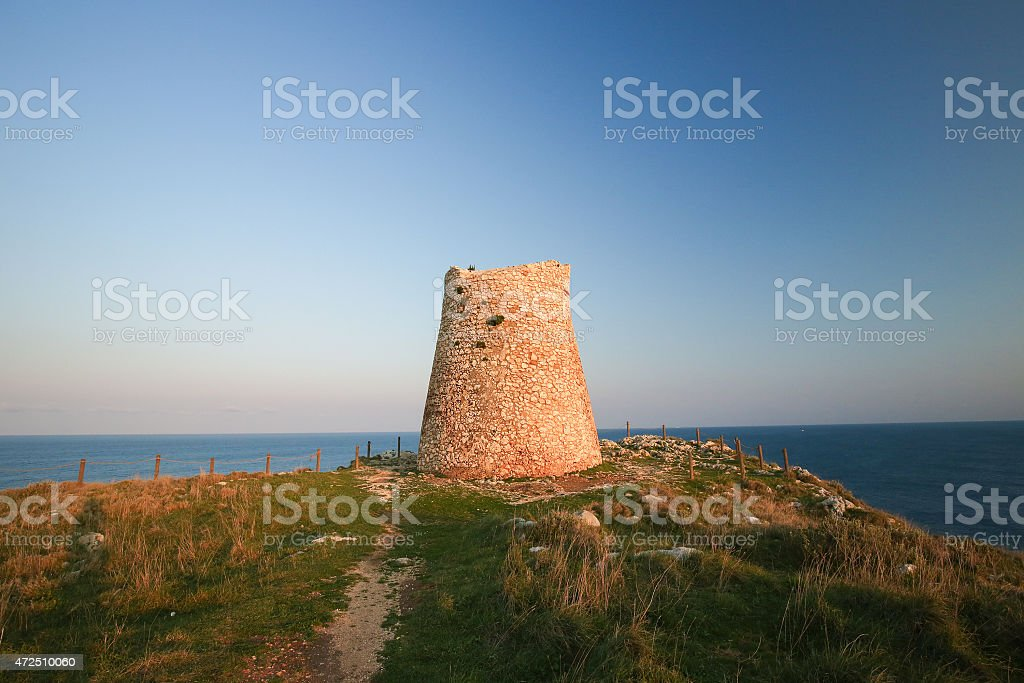 Torre Sant Emiliano near Otranto, Puglia stock photo