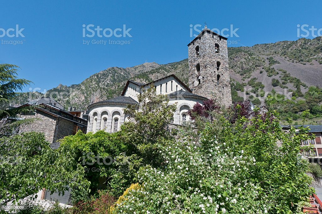 Sant Esteve at Andorra-La-Vella stock photo