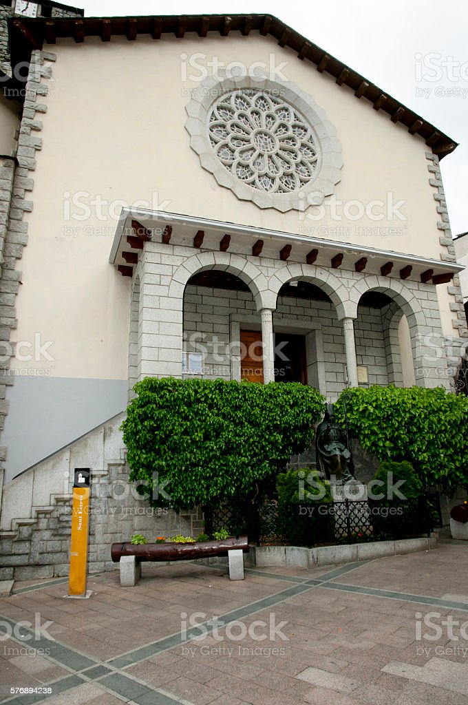 Sant Esteve Church - Andorra stock photo