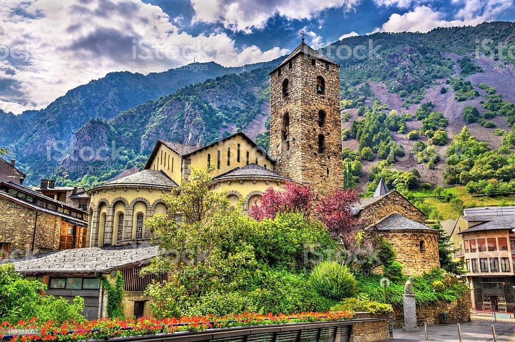 Sant Esteve church in Andorra la Vella, Andorra stock photo