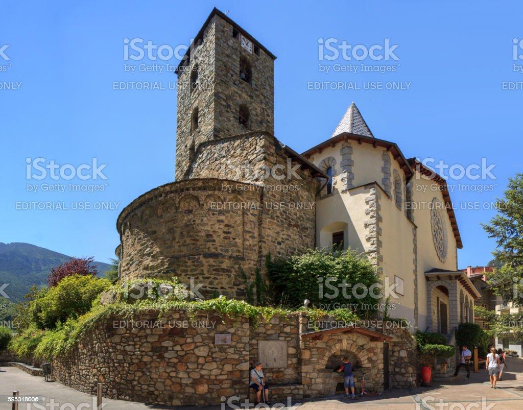 Sant Esteve church in Andorra la Vella stock photo