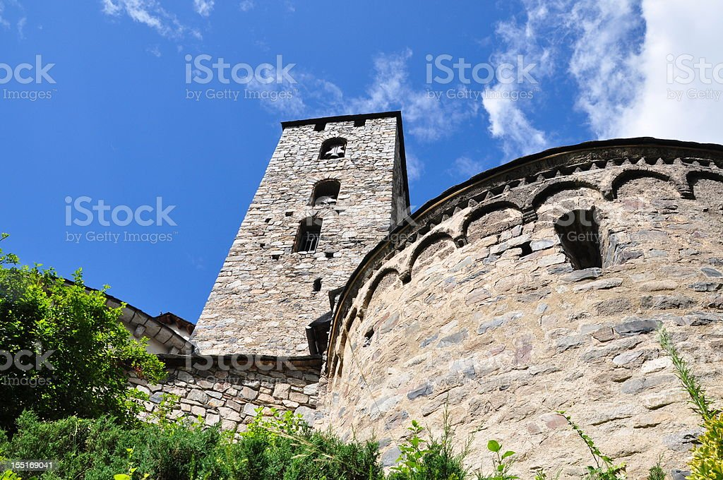 Sant Esteve church stock photo
