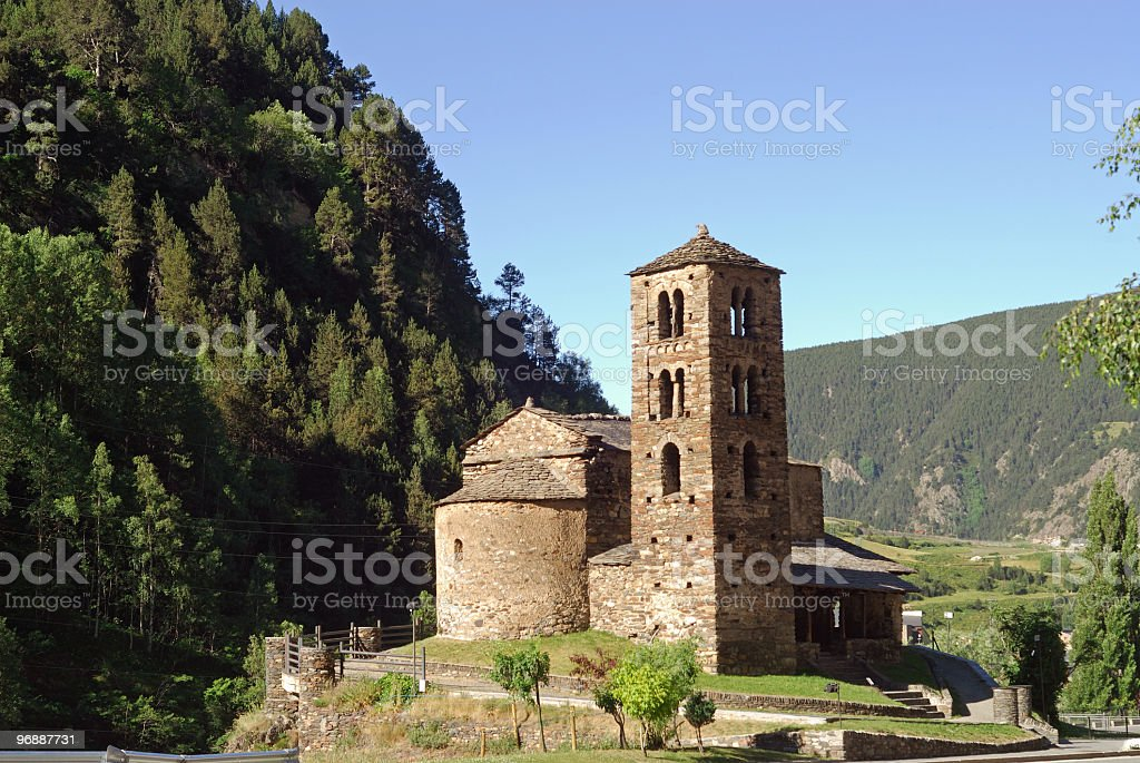 Sant Joan de Caselles (Andorra), romanesque church royalty-free stock photo