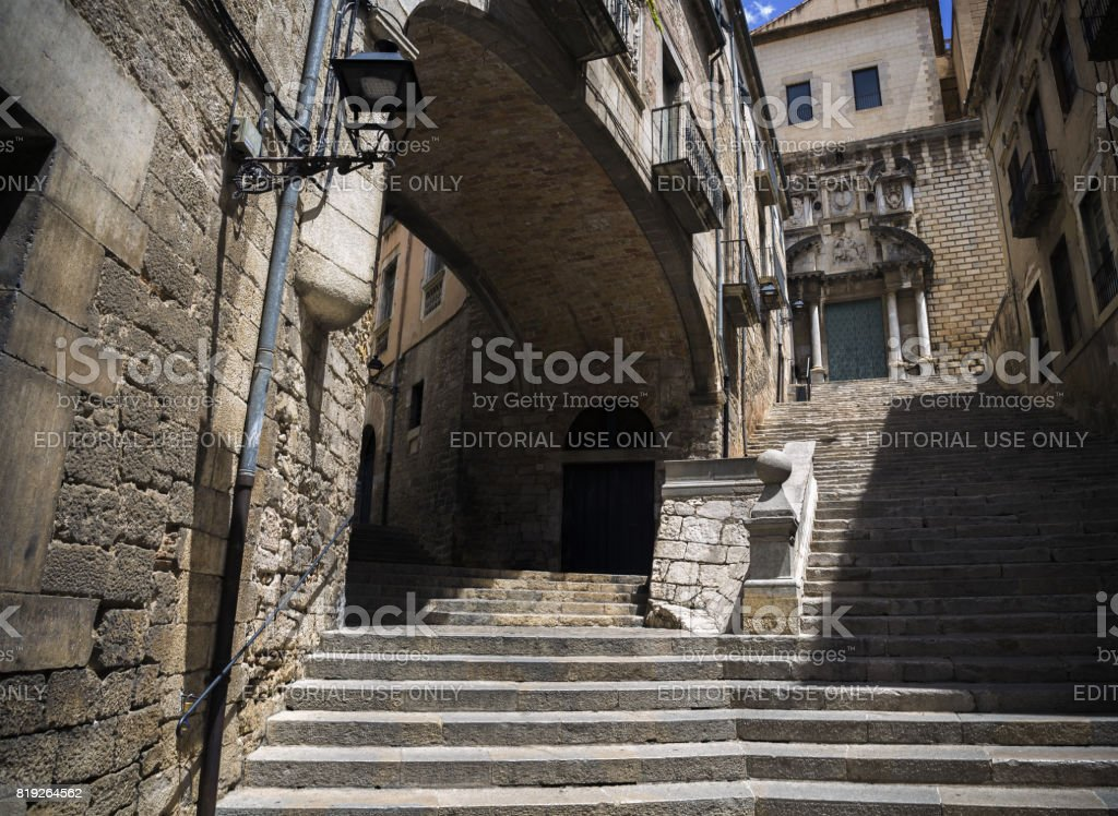 Sant Marti stairs stock photo